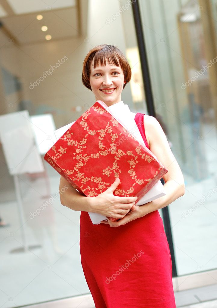 Beatiful young woman spend the time in shopping  Stock Photo #1838223