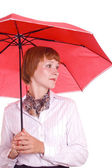 Beautiful woman with an umbrella. — Stock Photo