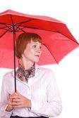 Krásná žena s deštníkem. — Stock fotografie