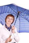 Bir şemsiye ile kız. — Stok fotoğraf