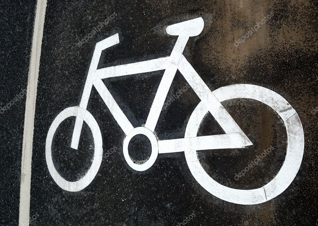 Traffic lane markings. Bicycle road. — Stock Photo #1840762
