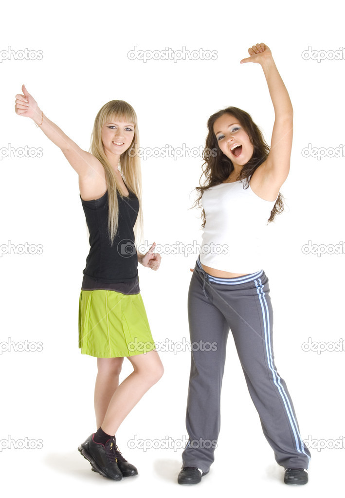 Two young beautiful models in the sportswear. — Stock Photo #1841372