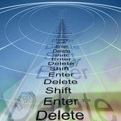 Enter, shift and delete — Stock fotografie