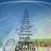 Enter, shift and delete — Stock Photo