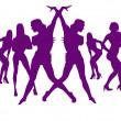 Royalty-Free Stock Photo: Dance of sexy girls for New Years
