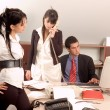 Stock Photo: Business team at office