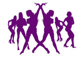 Dança de mulheres bonitas para ano novo — Foto Stock