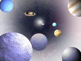 宇宙-科学背景 — 图库照片