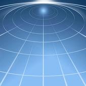 Cirkels van licht in de ruimte — Stockfoto