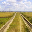 Rail road track — Stock Photo