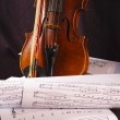 Fragment of violin — Stock Photo #1804635