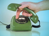 Dialing numbers — Stock Photo