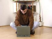 Laptop in interior — Stock Photo