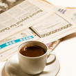 Newspapers and coffe — Stock Photo #1814009