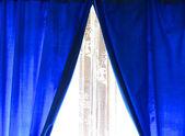 Blue drapery — Stock Photo