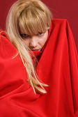 Blondie porträtt — Stockfoto