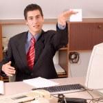 uomo d'affari presso l'ufficio — Foto Stock #1829527