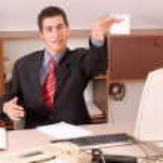 Businessman at office — Stockfoto #1829527