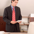 Stock Photo: Businessman at office