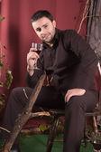 Wein trinken — Stockfoto