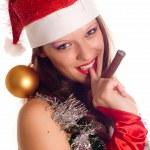 Portrait Santa Girl — Stock Photo #1834013