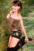 Erotická dívka — Stock fotografie