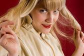 Ritratto di blondie — Foto Stock