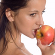 Woman eating a apple — Stock Photo #1862886