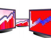 Chart diagram — Stock Photo