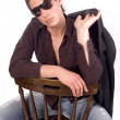Royalty-Free Stock Photo: Portrait with sunglassess