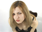 Porträt von blondie-mädchen — Stockfoto