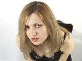 Porträtt av blondie flicka — Stockfoto