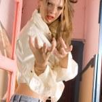 Attractive girl — Stock Photo