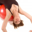 Exercise ball rollout — Stock Photo #1907832