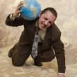 Businessman and globe — Stock Photo #1918544