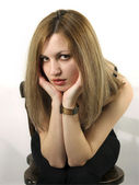 Retrato de niña rubia — Foto de Stock