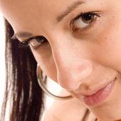 крупным планом лицо женщина — Стоковое фото
