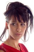 Portrait a brunette — Stock Photo