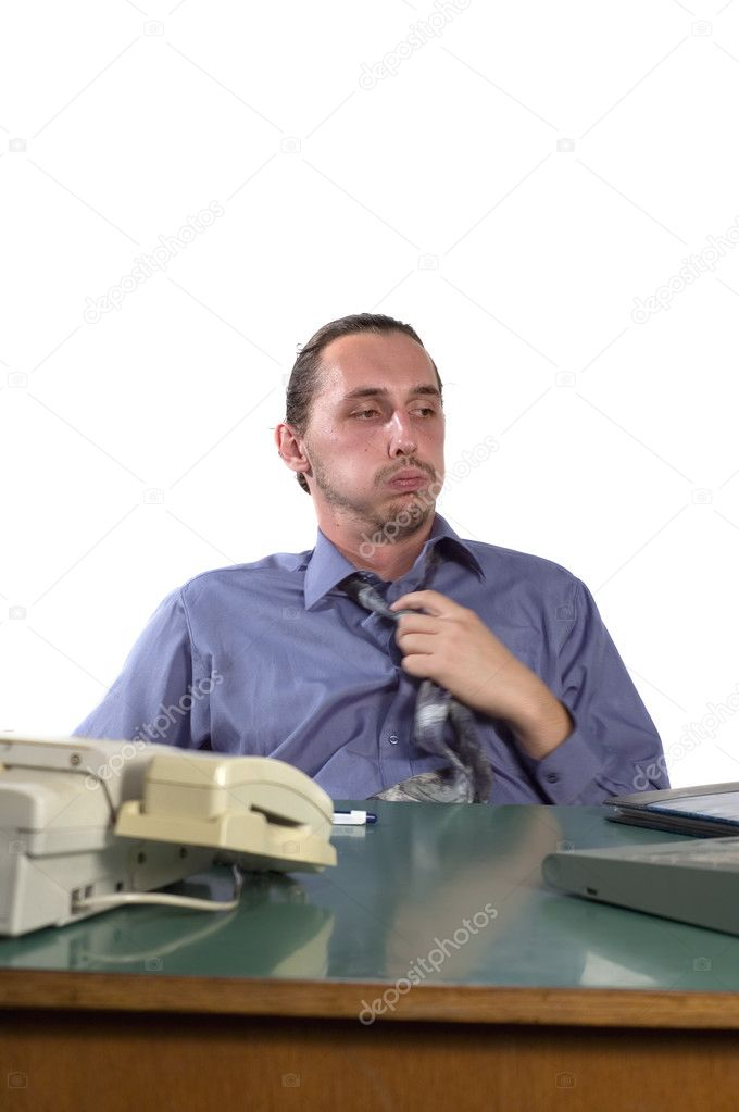 Tired business man at office — Stock Photo #1916765