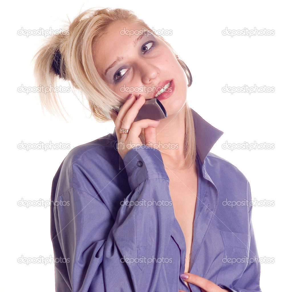 Young beauty woman making a call phone — Stock Photo #1922781