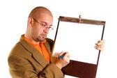 Homme d'affaires et des notes — Photo