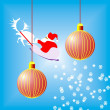 Two red christmas ball — Foto de Stock