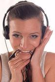 Listening music — Stock Photo