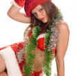 Stock Photo: Sexy Santa Girl