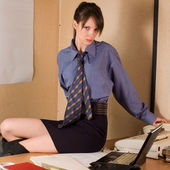 Business wom?n at office — Stock Photo