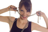 Girl chain — Stock Photo