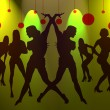 Dance of sexy girls for New Years — Stock Photo