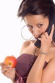 Call phone apple — Stock Photo