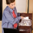 Business woman at office — Stock Photo #2255005