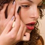Applying eyelashes — Stock Photo #2255100